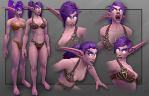 Night Elf Female Model Emotes.