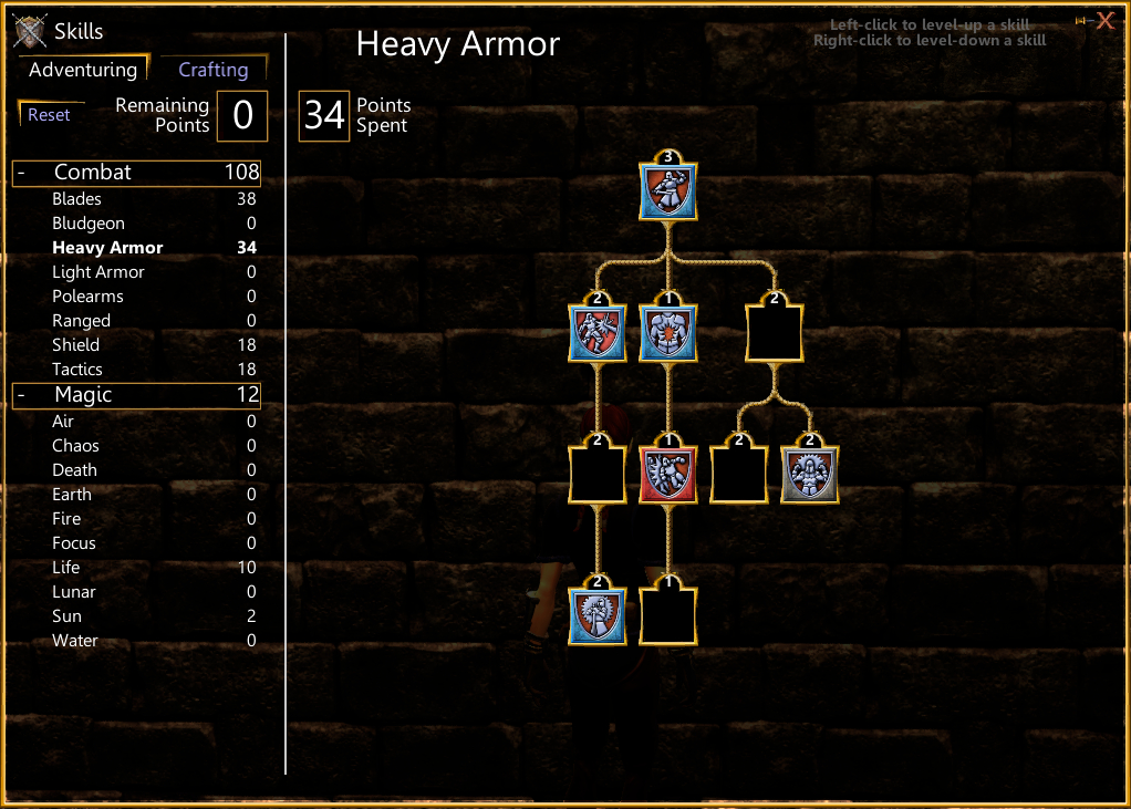 SotA Heavy Armor Skill Tree