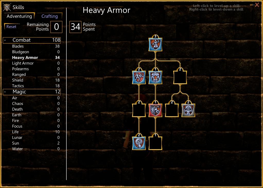 SotA Heavy Armor Skill Tree